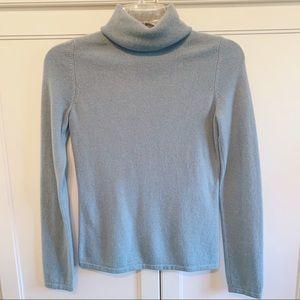 Saks | Powder Blue Cashmere Turtleneck Sweater